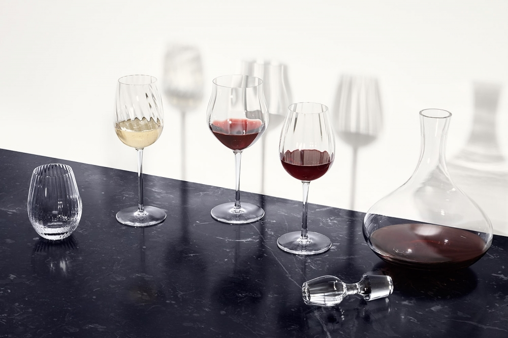 Crystal decanter and glasses TWIST.